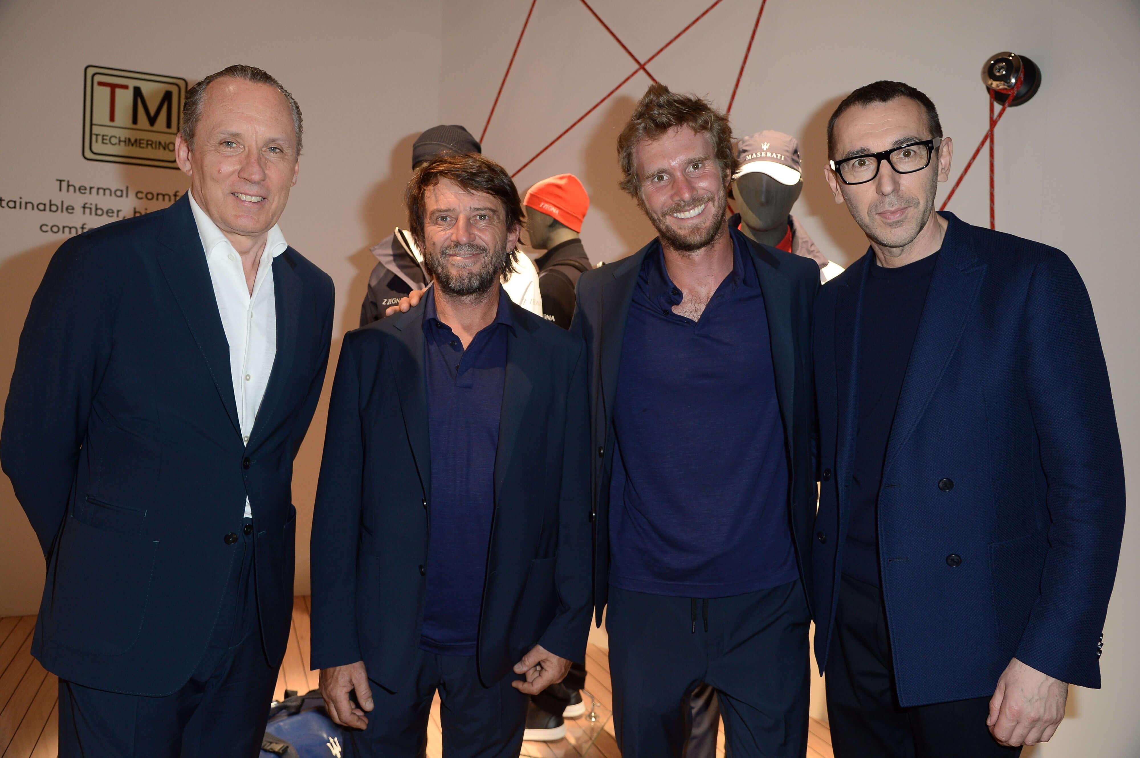 004 Gildo Zegna;Giovanni Soldini;Vittorio Bissaro;Alessandro Sartori – Pitti Immagine Uomo