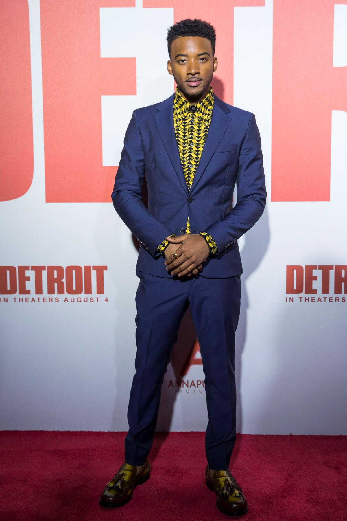 Algee Smith PRADA FW17 Detroit Premiere 25.07.2017 Detroit